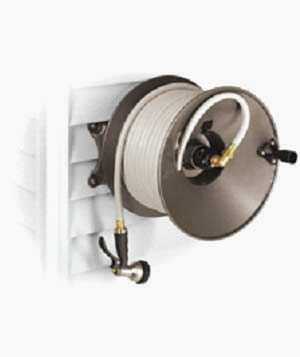 Delightful ... Wall Mount Hose Reel Used Convenient With Hose And Fittings
