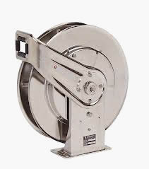 Featured stainless steel hose reel for water hoses